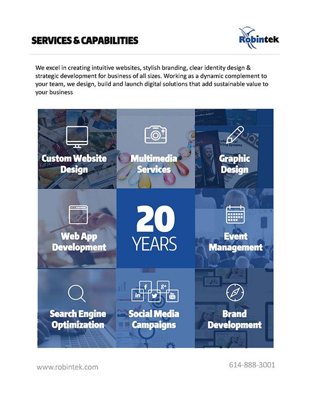 Full Services and Capabilities - SEO, Web Design, Graphic Design, SEO