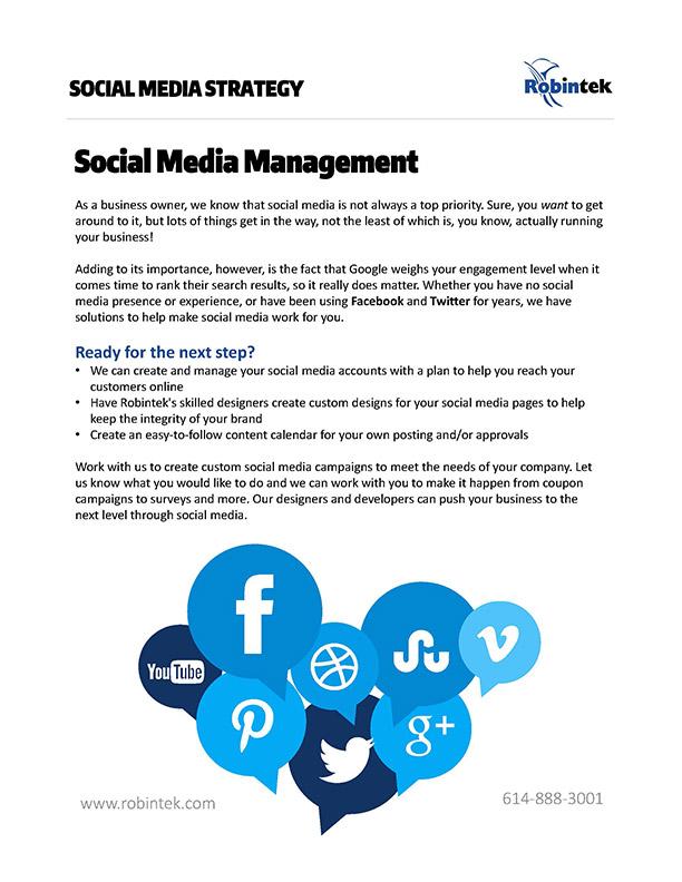 Social Media Management Online Web Services