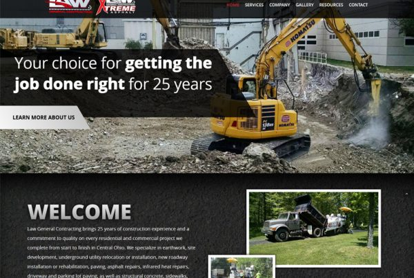 Law General Contracting Website Design