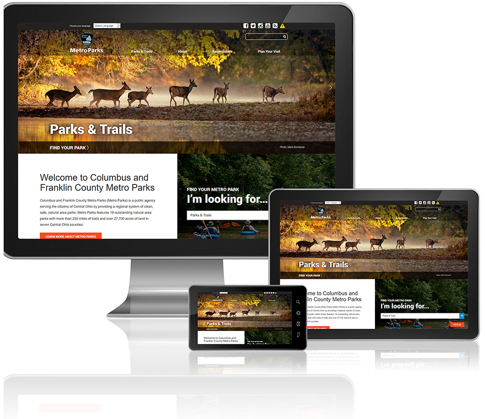 Metro Parks Website Design Columbus Ohio