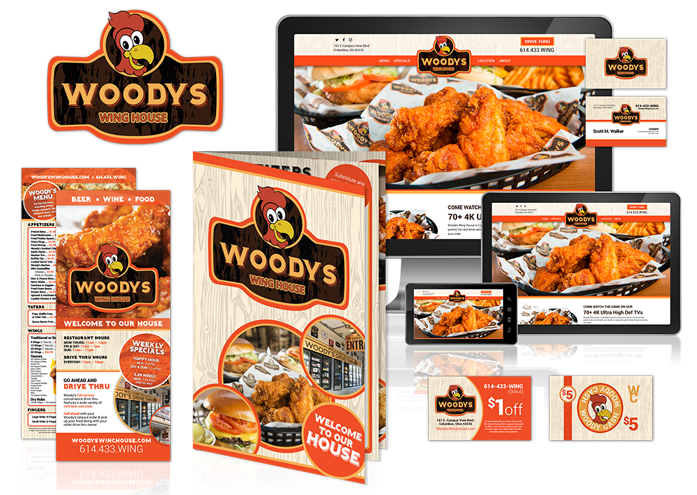 Woodys Website Logo and Graphic Design