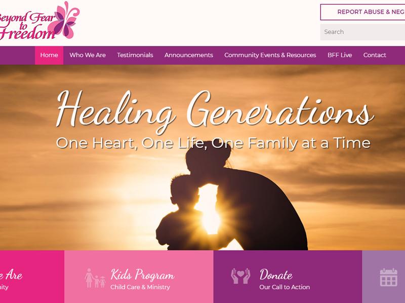 Beyond Fear to Freedom Ohio Church Website Design