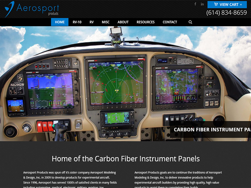 Aerosport Website Redesign Wordpress