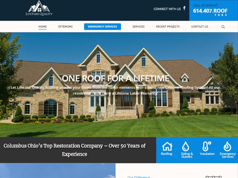 Lifetime Quality Roofing Robintek Innovative Website Design Digital Marketing Columbus And Akron Ohio Wordpress Custom Development