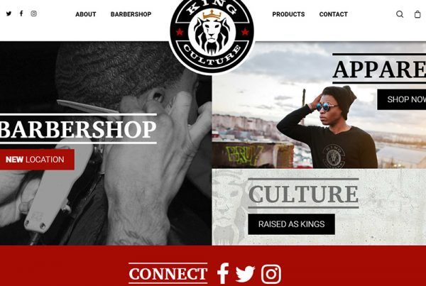 King Culture Website Design Wordpress