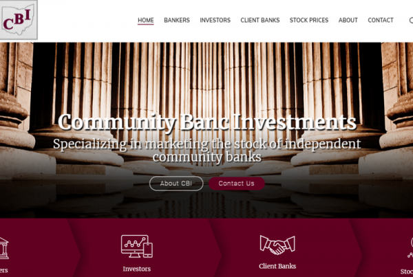 Community Banc Website Design