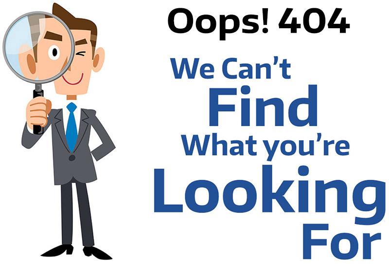 Custom Designed 404 Error