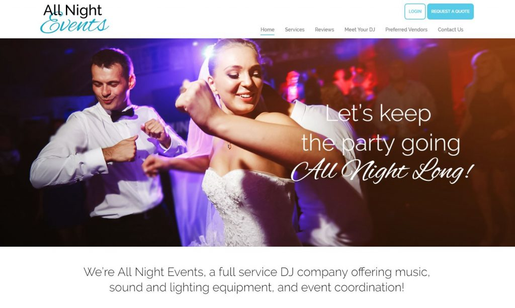 All night events website