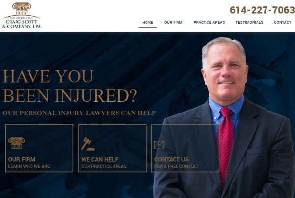 Craig Scott Law Website Homepage Design