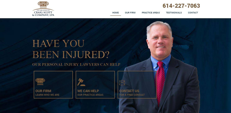 Craig Scott Law Website Homepage Design