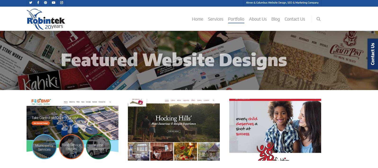 custom featured website designs