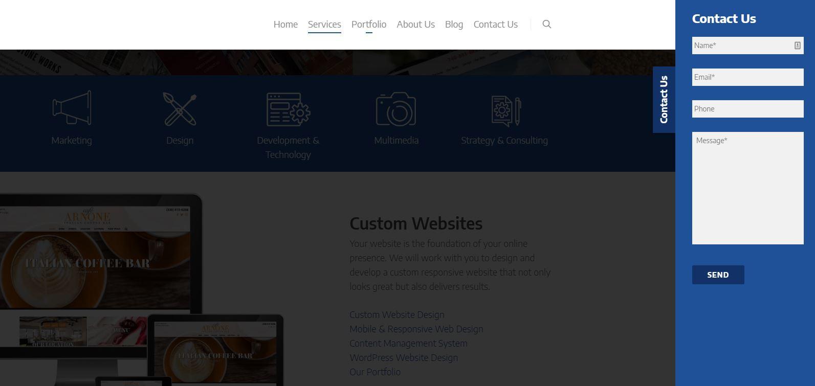 image of robintek website