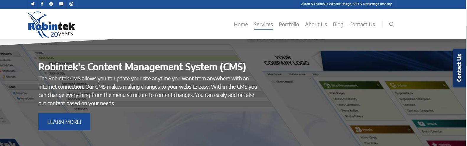 robintek content management system CMS