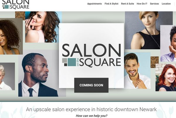 salon on the square website design preview web page