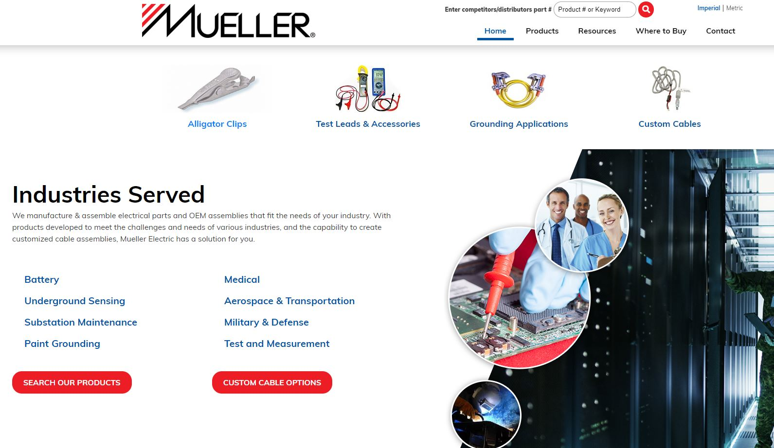 mueller website products page