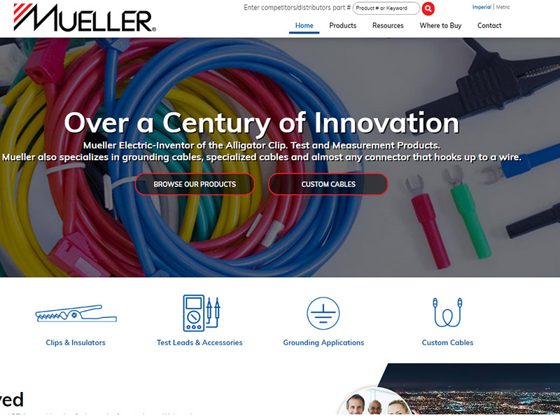 Mueller Electric OEM Assembly Manufacturing Website