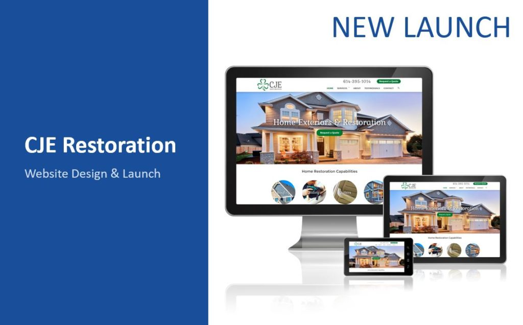 CJE Restoration New Website Design and Launch