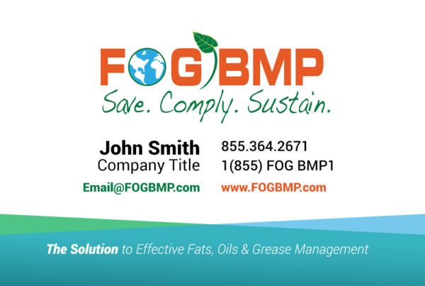 Fogbmp business card design for print