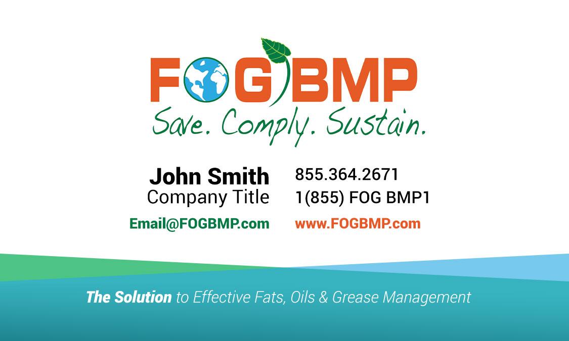 Fogbmp business card design for print