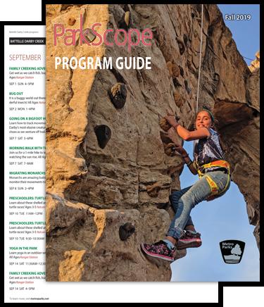 Metro Parks ParkScope newsletter design