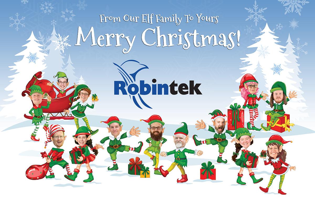 Robintek Christmas Make Me An Elf Postcard