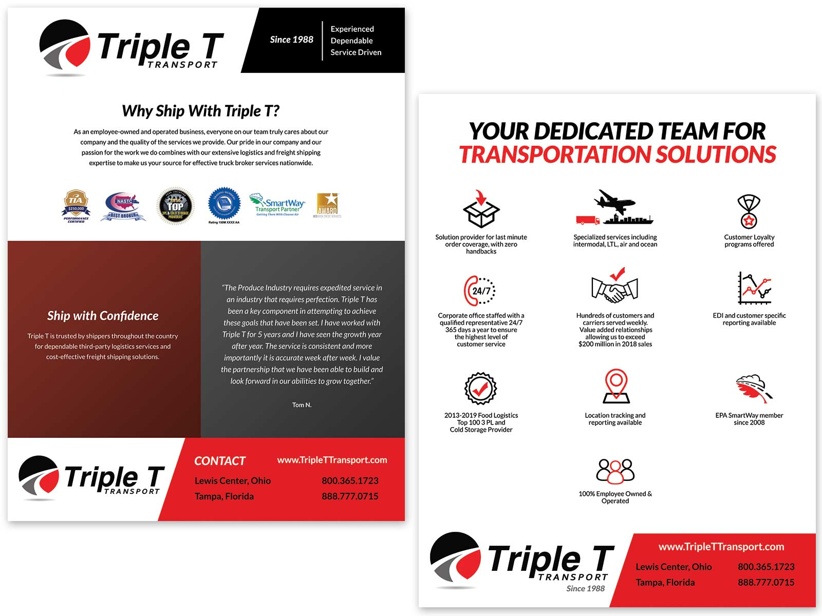 Triple T Flyer and Trade-show Handout