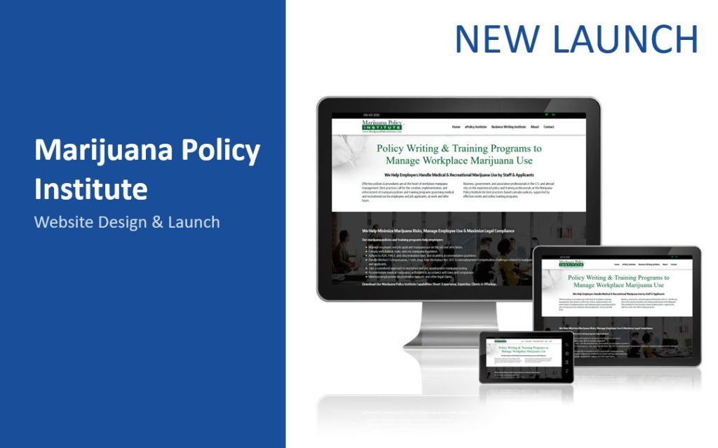 Policy writing and training programs WordPress website