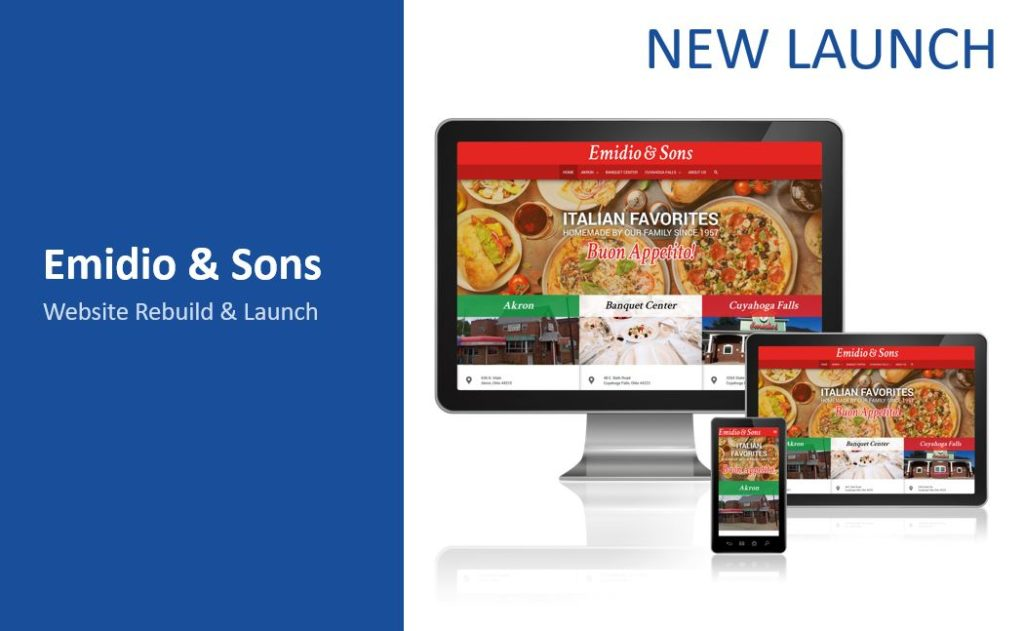 Emido and sons web design