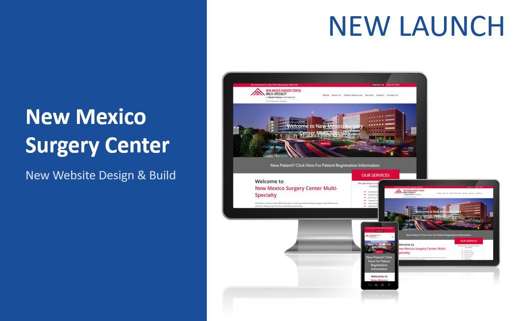 NM surgery center new website build WordPress
