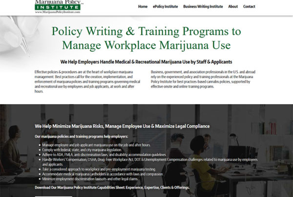 marijuana policy training CMS platform