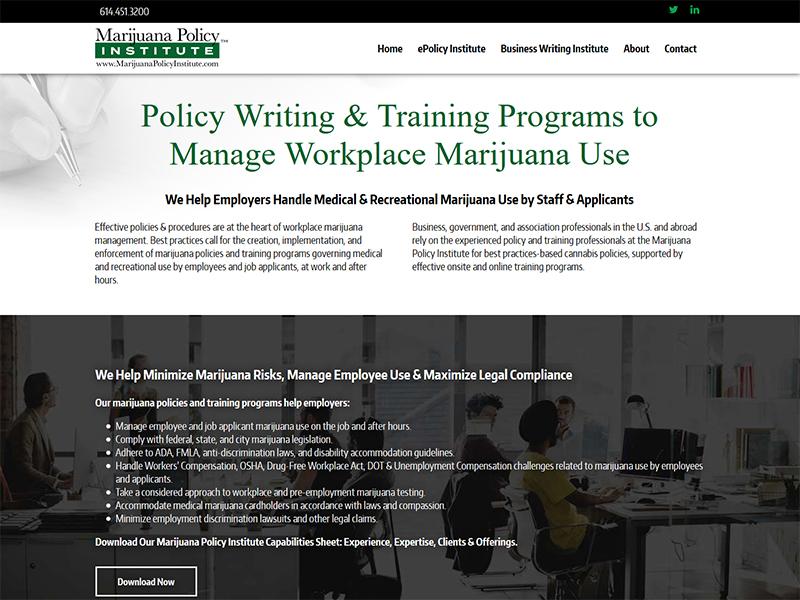 marijuana policy training CMS platform