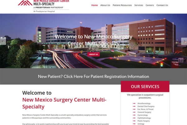 new mexico surgery center wordpress website