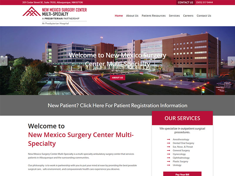 new mexico surgery center wordpress website