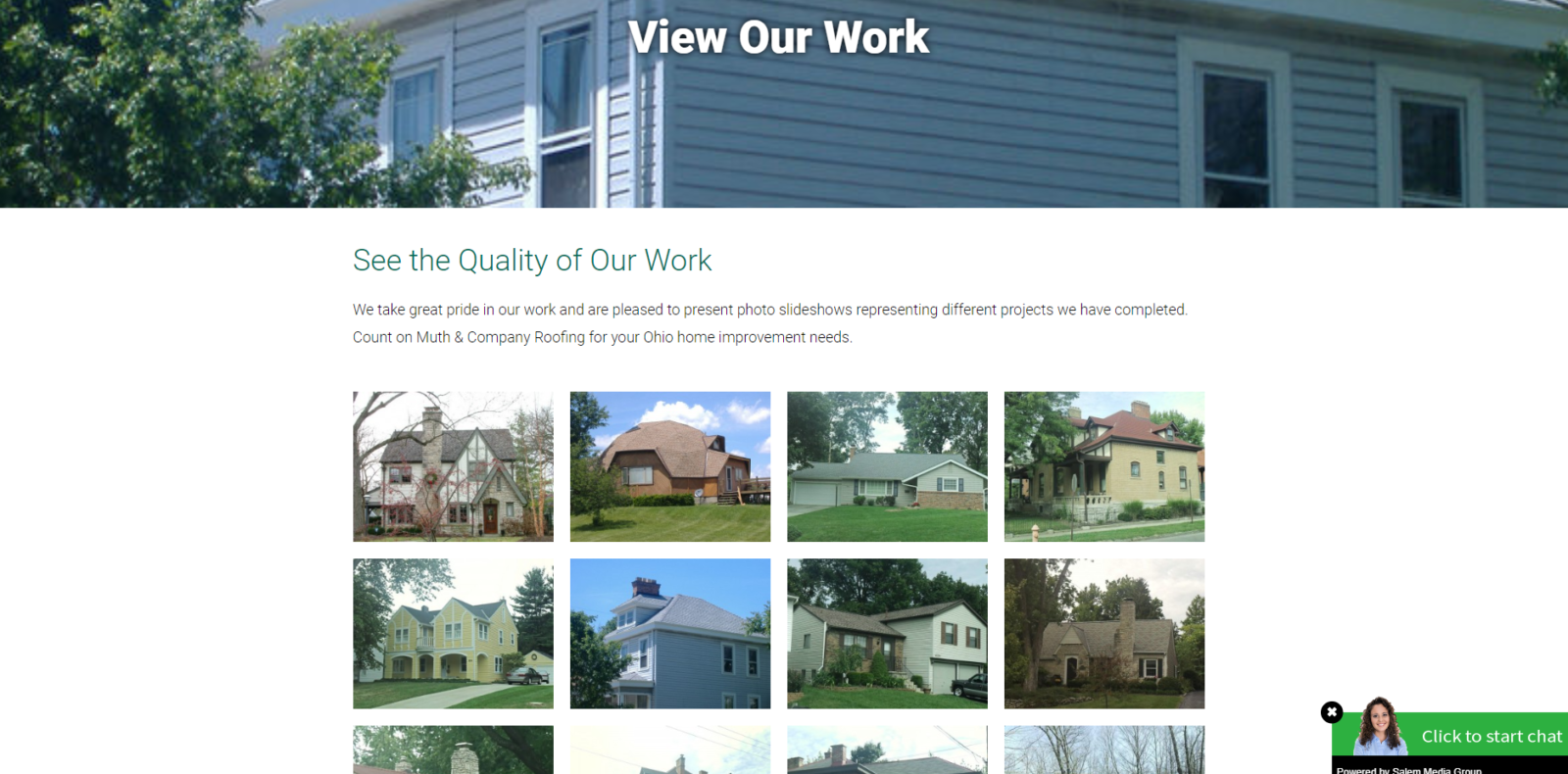 wordpress site design muth & company roofers our work
