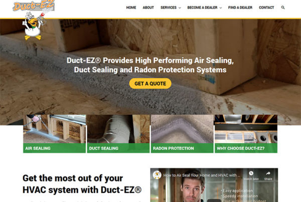 DuctEZ, wordpress, home improvement, redesign