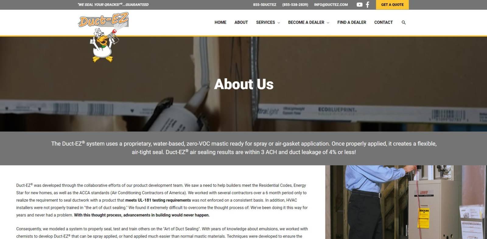 Wordpress, blog, construction, rebuild, ductez