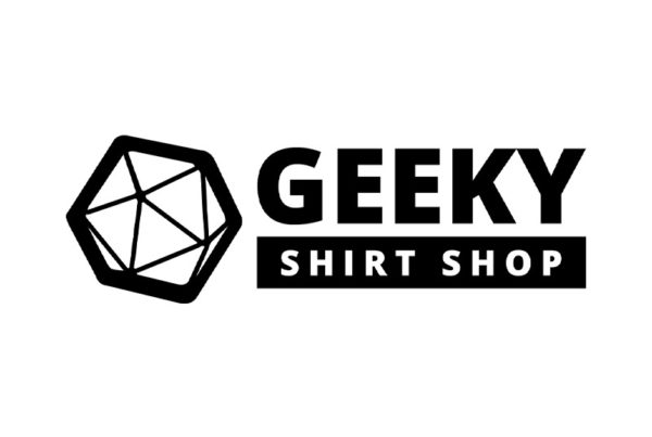 geeky shirt shop new logo design