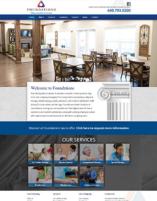 Foundations Long Term Care Website Design