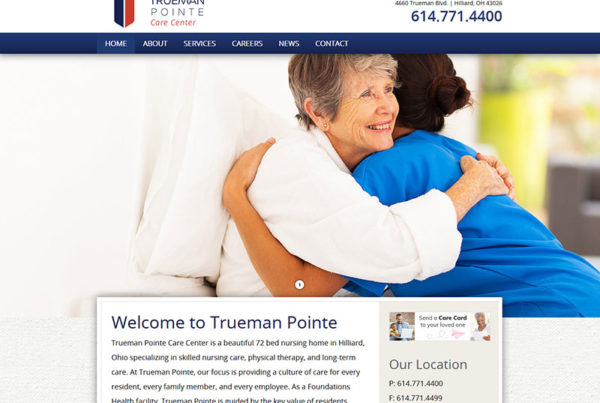 Wordpress, trueman pointe care center, nursing home
