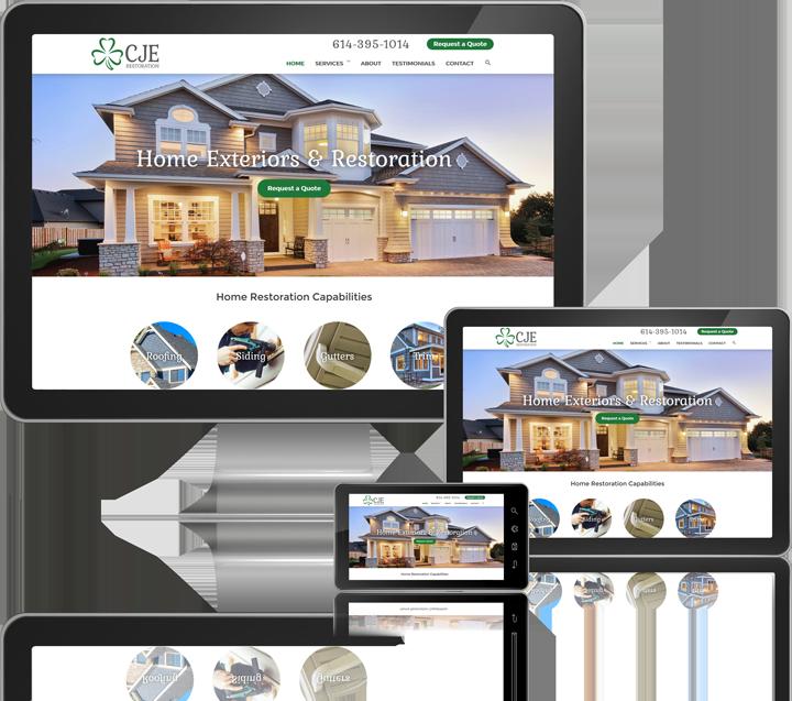 CJE Restoration Mobile Website Design