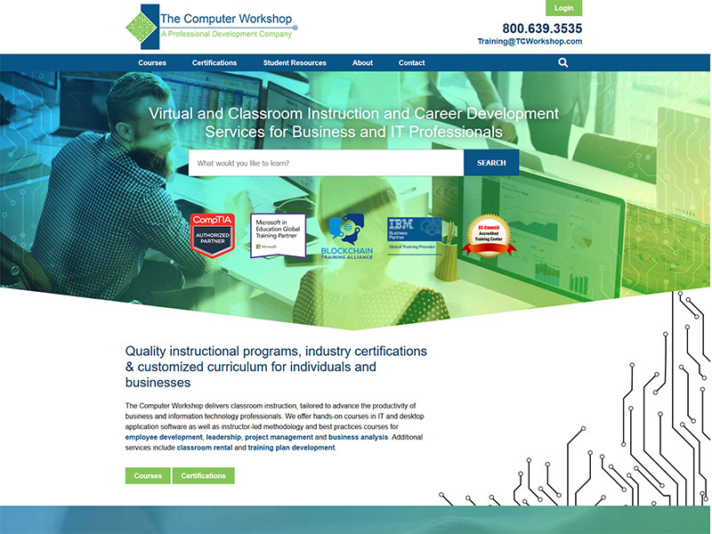 tcw, custom content management, technology classes