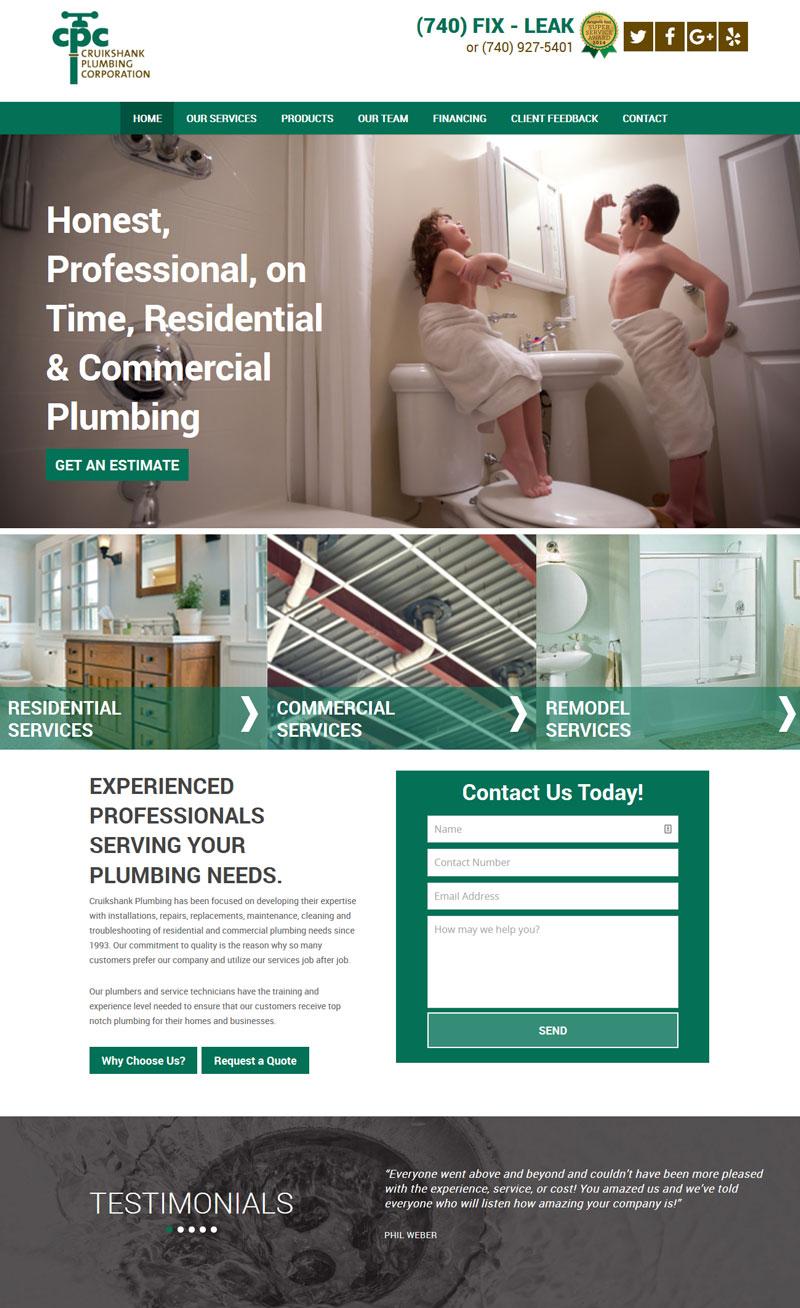 Cruikshank Plumbing Website