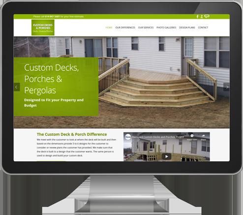 Custom Deck and Porch Website