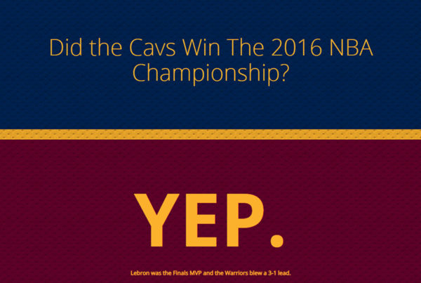 Did the Cavs with the 2016 NBA Championship