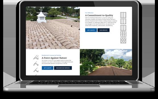 Galeforce Roofing Website