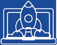 Icon Laptop Rocket Website