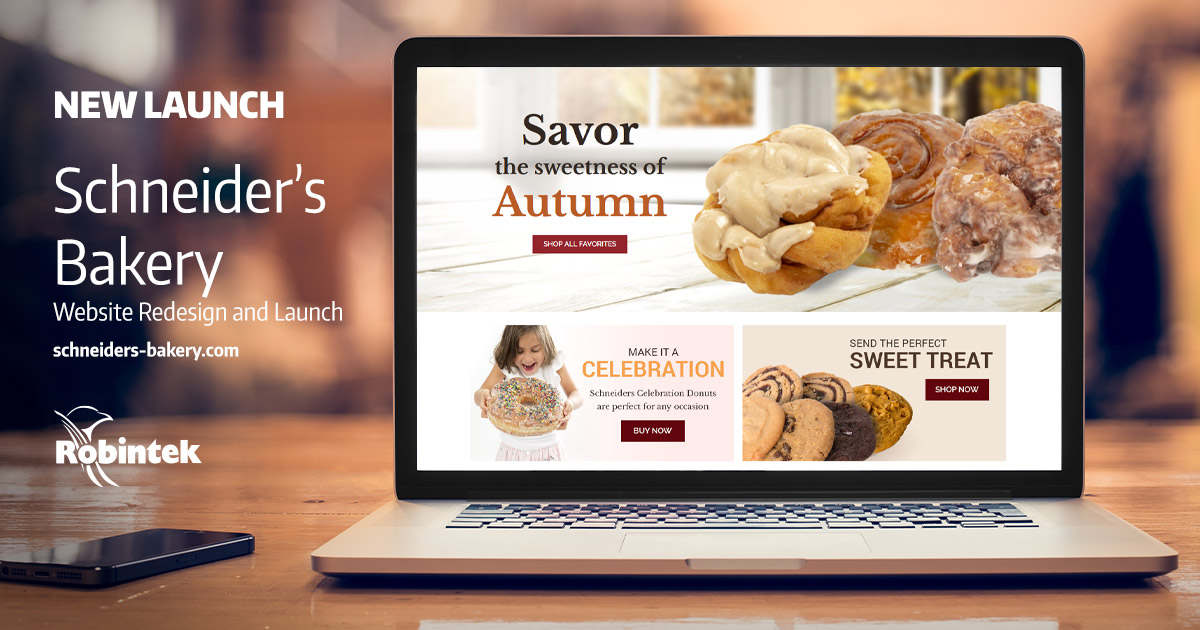 Scneiders Bakery eCommerce Web Design build and launch