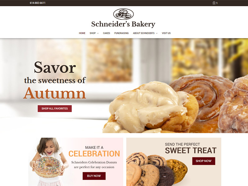 Schneiders Bakery Westerville Ecommerce Website