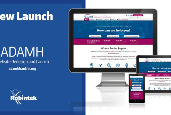 ADAMH - Columbus Web Design Launch