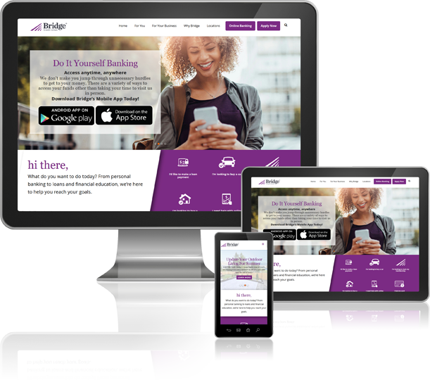 Bridge Credit Union Custom Website Design